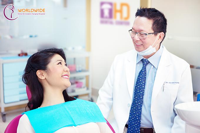 Huỳnh Lý Đông Phương khám răng định kỳ tại Worldwide