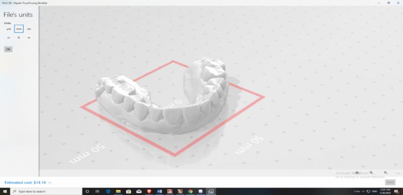 File thiết kế của bạn sẽ được gởi đến máy in 3D tại Lab in house