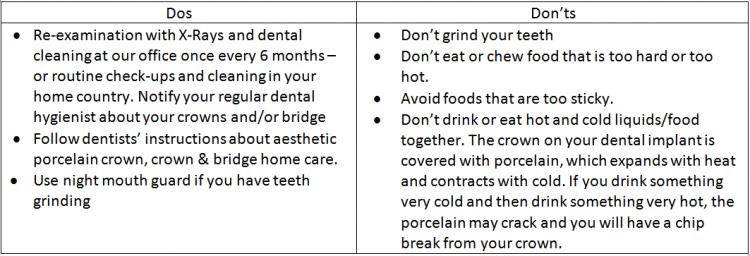 cosmetic dentistry warranty