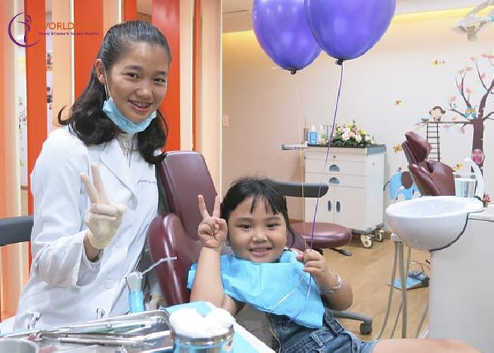 nhổ răng sữa tại bệnh viện worldwide