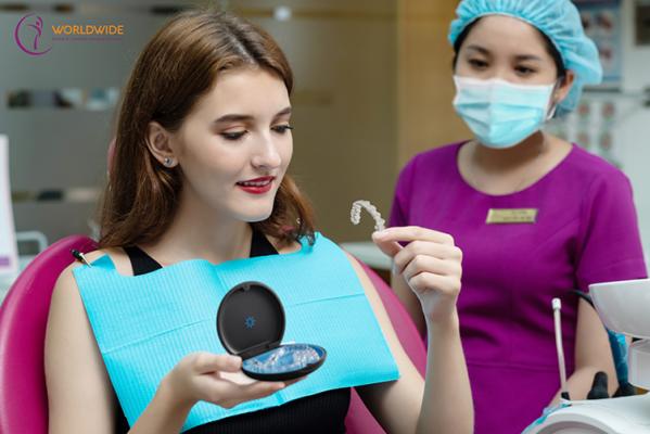 Bệnh viện Worldwide đã ứng dụng kỹ thuật số tiên tiến nhất trong niềng răng trong suốt Invisalign.