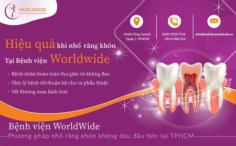 Nhổ răng khôn tại bệnh viện Worldwide
